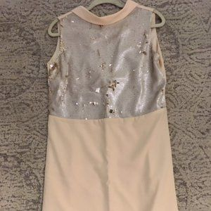 Little Mistress Plunge Back Sequin Dress Size 12